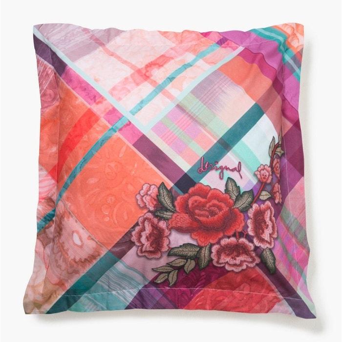 taie d oreiller desigual love tartan couleur unique desigual la redoute. Black Bedroom Furniture Sets. Home Design Ideas