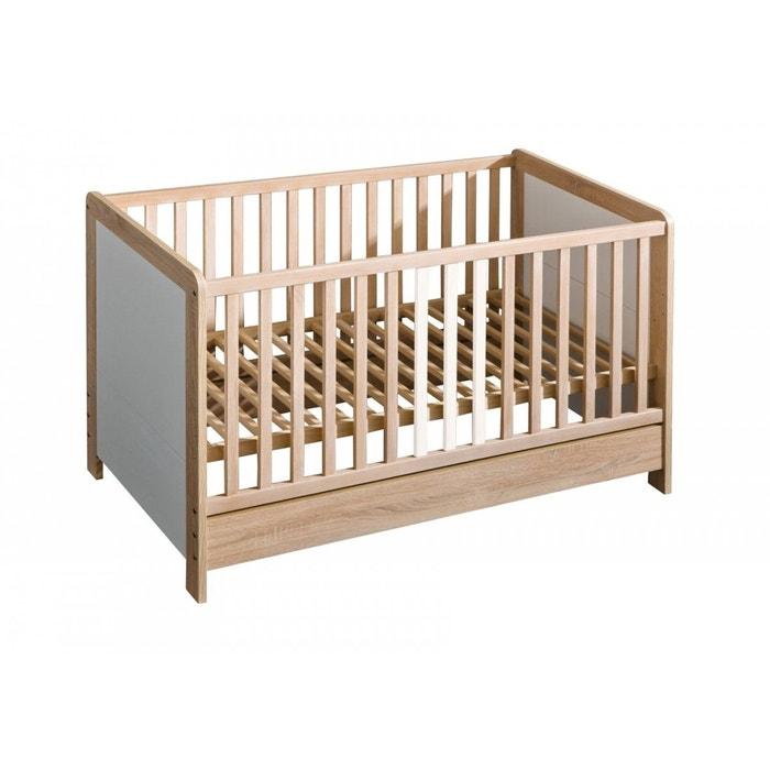 Lit b b lara 140 x 70 ch ne blanc petite chambre la redoute - La redoute chambre bebe ...