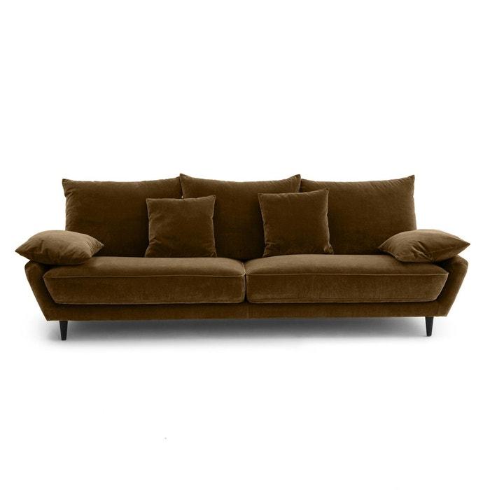 canap fixe 5pl lenakine velours am pm la redoute. Black Bedroom Furniture Sets. Home Design Ideas