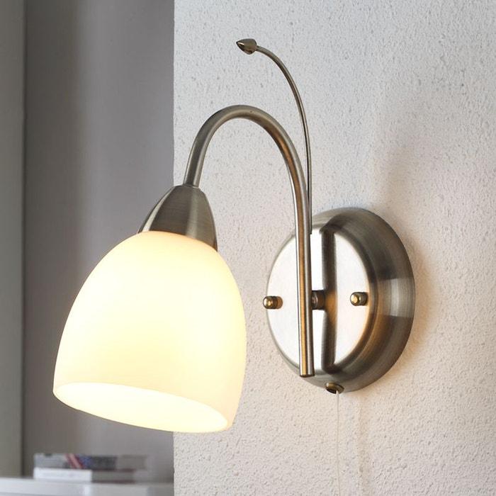 applique ray de coloris laiton ancien blanc laiton ancien. Black Bedroom Furniture Sets. Home Design Ideas