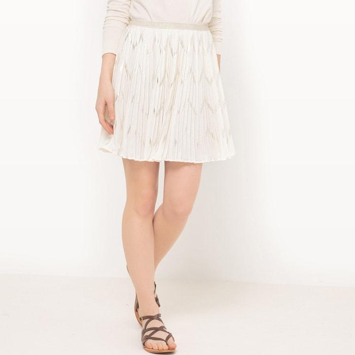 afbeelding Geplisseerde rok met metallic draad en elastische tailleband SEE U SOON