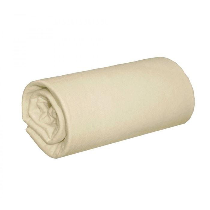 drap housse lin jersey coton tencel beige terre de nuit la redoute. Black Bedroom Furniture Sets. Home Design Ideas