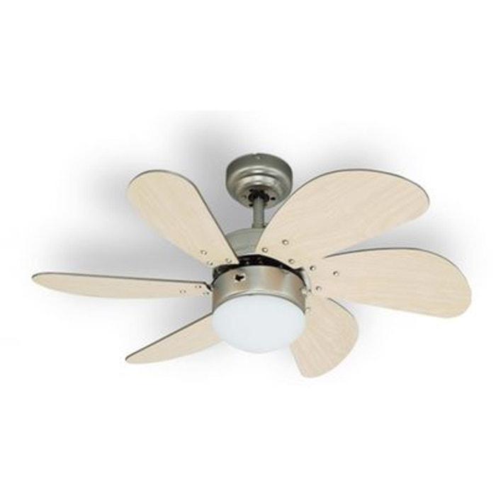 ventilateur de plafond avec luminaire 6 pales