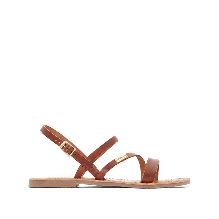 sandales cuir plates baden marron les tropeziennes par m belarbi la redoute. Black Bedroom Furniture Sets. Home Design Ideas