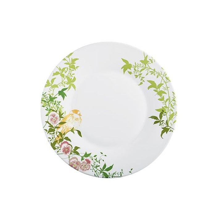 assiette dessert 22 cm verre motif fleur latone couleur unique luminarc la redoute. Black Bedroom Furniture Sets. Home Design Ideas