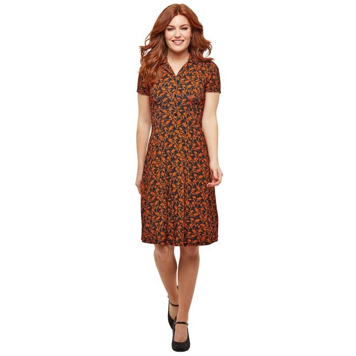 online retailer 4b797 7676b Ausgestelltes Kleid, kurz, Hemdkragen, Blumenmuster