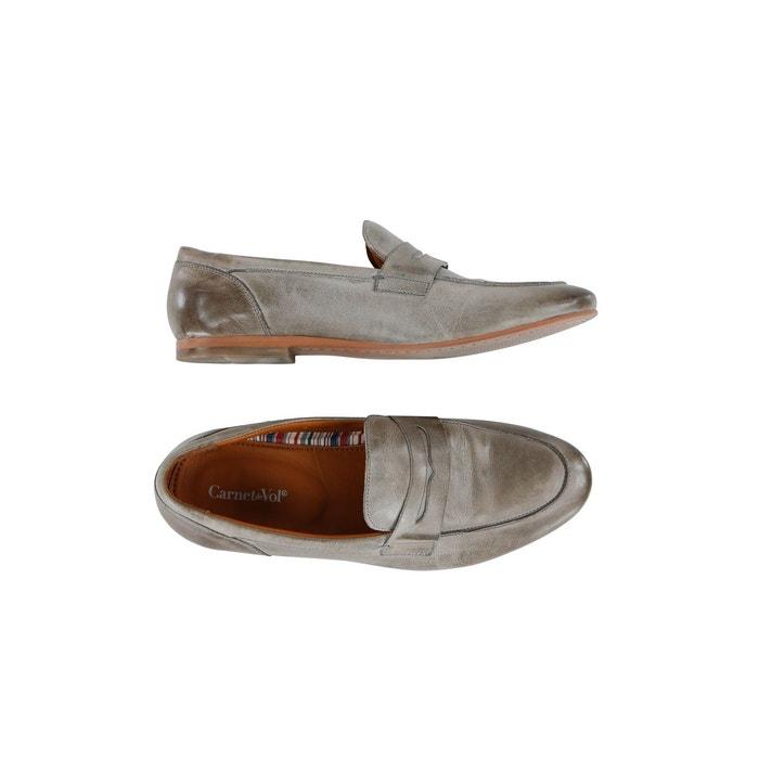 Effect Leather Moccasins Logbook Wears Beige