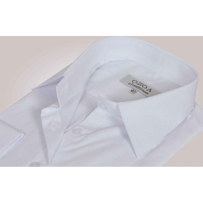 Chemisier Femme Blanc Uni Chemisier Non Cintre Blanc Ozoa Chemises