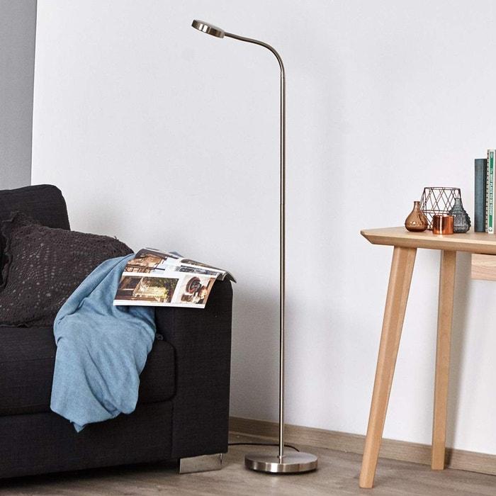 led lampadaire olivia moderne en gris en mtal e a pour salon