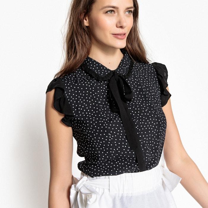 Camicia fantasia con lavallière, senza maniche  MADEMOISELLE R image 0