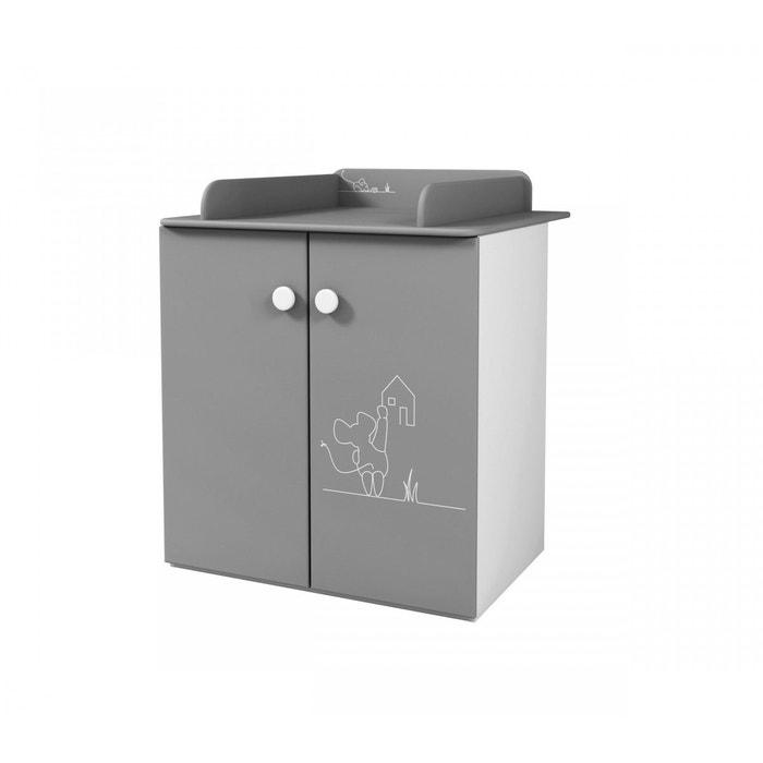 commode table langer grise souriceau gris terre de nuit la redoute. Black Bedroom Furniture Sets. Home Design Ideas