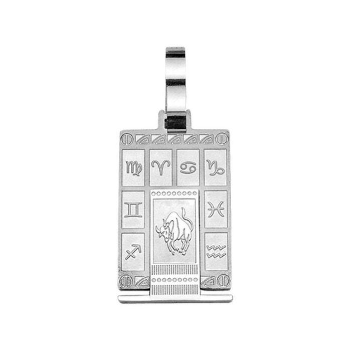 Pendentif homme zodiaque taureau acier inoxydable couleur unique So Chic Bijoux | La Redoute Magasin De Point De Vente Pas Cher gJvXjGVgG3