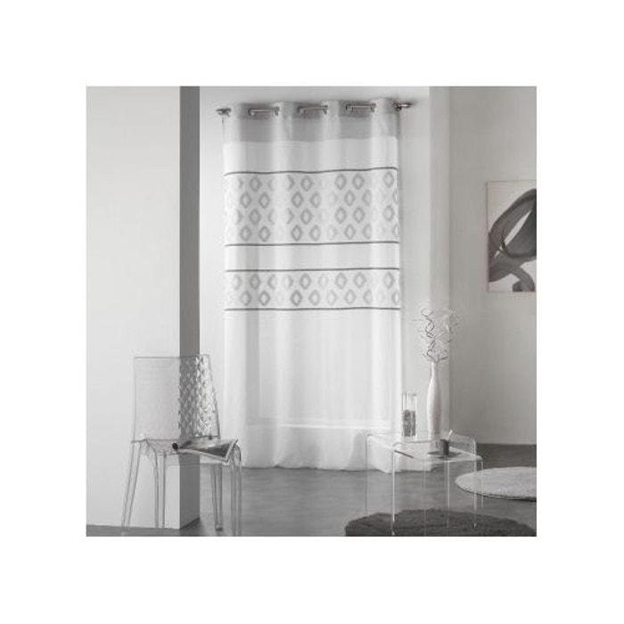 voilage teoro gris 140x260 sans douceur d 39 int rieur la redoute. Black Bedroom Furniture Sets. Home Design Ideas