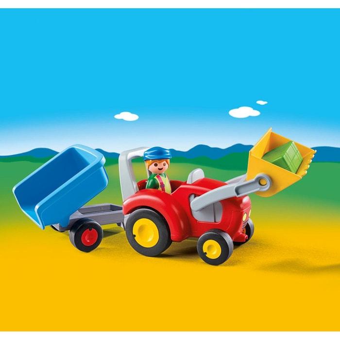 Fermier avec tracteur et remorque multicolore multicolore playmobil la redoute - La redoute playmobil ...