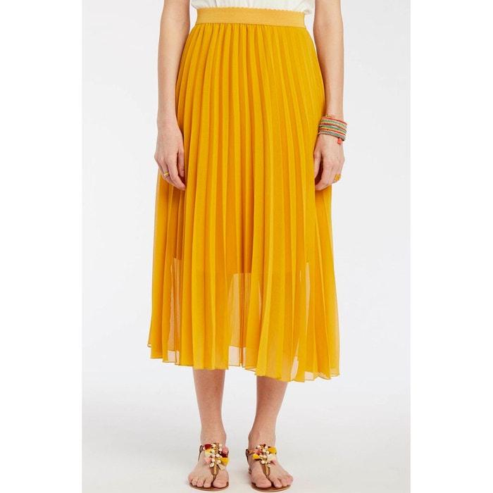 vaut jusqu'à acheter en ligne jupe longue plissée jaune