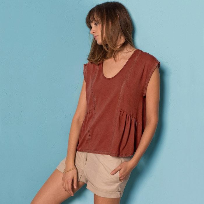 Image Lace Front T-Shirt La Redoute Collections