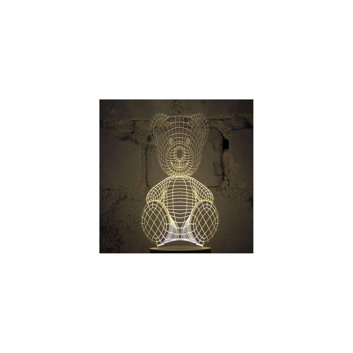 Lampe Bulbing Teddy Bear Tridimensionnelle Lumieres Led Studio Cheha