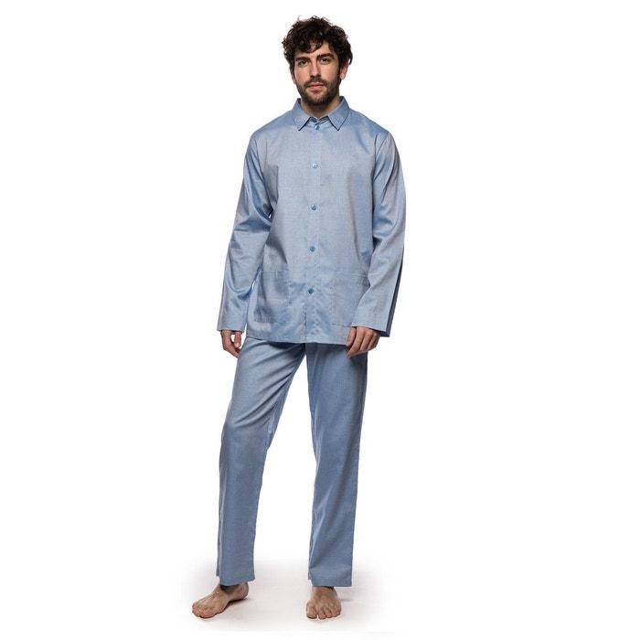 pyjama tokyo homme bleu azur laurence tavernier la redoute. Black Bedroom Furniture Sets. Home Design Ideas