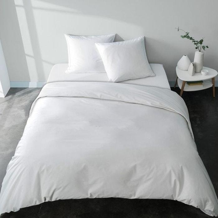 housse de couette tr s grande taille blanche unie percale bio fabriqu e en france extra douce. Black Bedroom Furniture Sets. Home Design Ideas