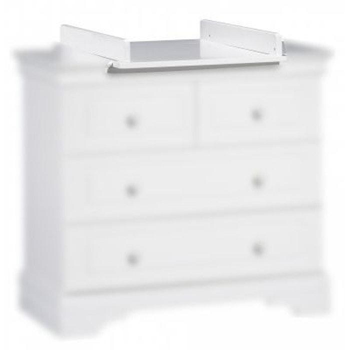 Plan à langer petit modèle blanc Elodie - Sauthon Meubles  SAUTHON image 0