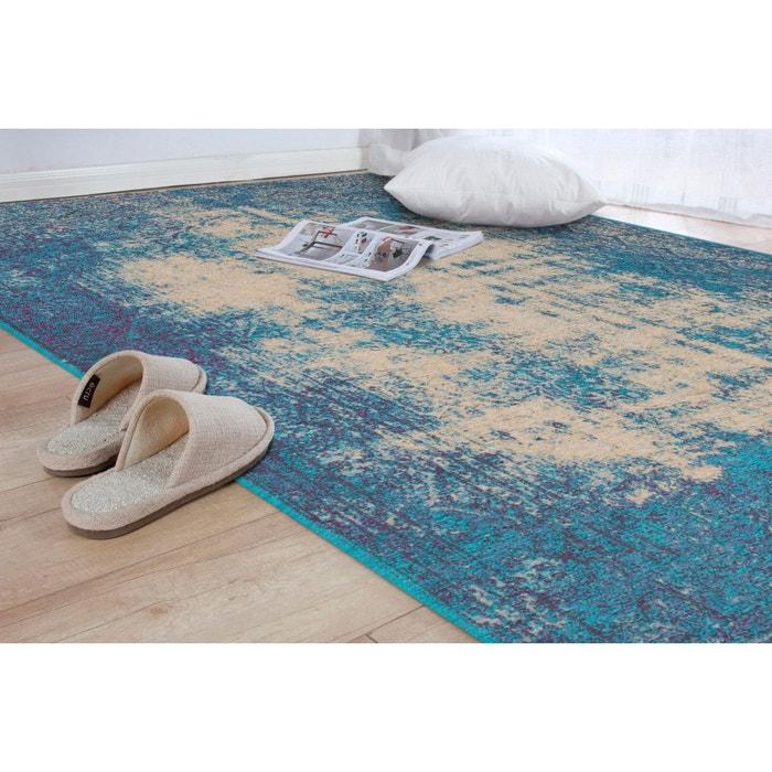 tapis plat effet vintage turquoise salon sherley turquoise. Black Bedroom Furniture Sets. Home Design Ideas
