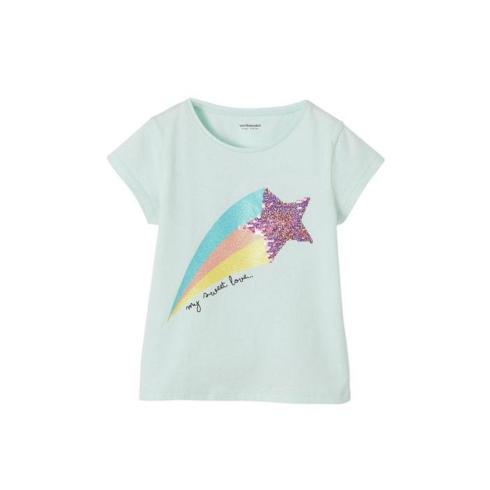 5f89abfd1c1 T-shirt magique fille à sequins réversibles et paillettes bleu pale  Vertbaudet