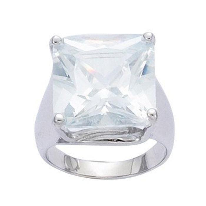 Bague fiançailles anneau solitaire 15 mm oxyde de zirconium argent 925 couleur unique So Chic Bijoux | La Redoute Ebay Vente En Ligne w85Xrp09mR
