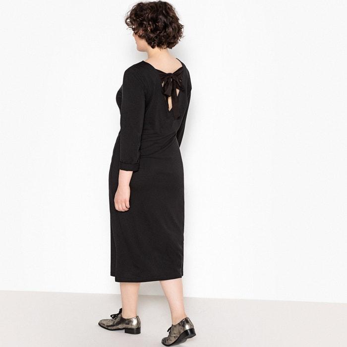 10dfe9cb5974 Tie back midi dress , black, La Redoute Collections Plus   La Redoute