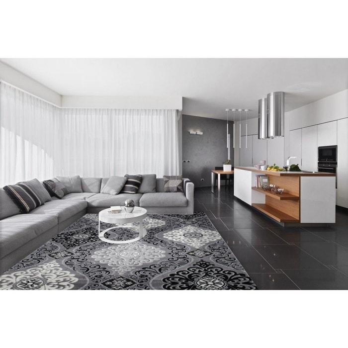 tapis argent style baroque brillant pour salon sencha argent allotapis la redoute. Black Bedroom Furniture Sets. Home Design Ideas