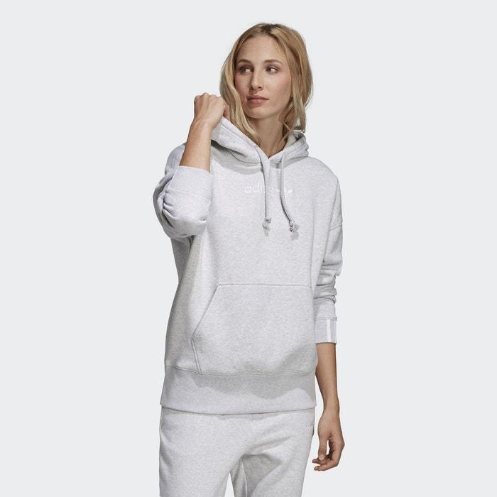 Sweat-shirt à capuche coeeze cropped gris Adidas Originals  261c8fde570