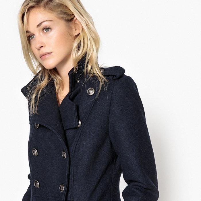 Cappotto stile militare lungo 55 % lana  La Redoute Collections image 0
