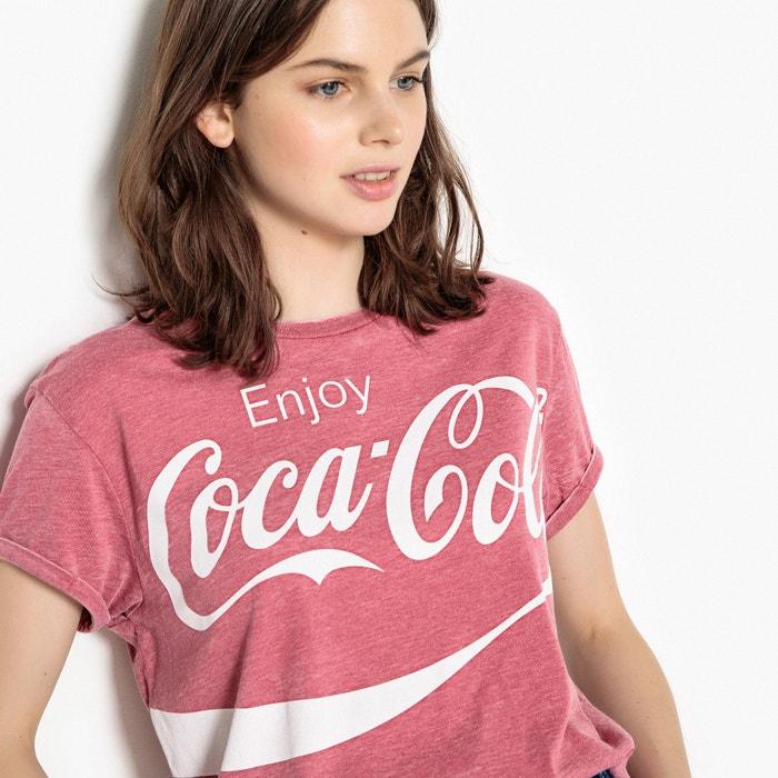 corta estampada Camiseta redondo cuello COCA COLA manga 1FnWCfq