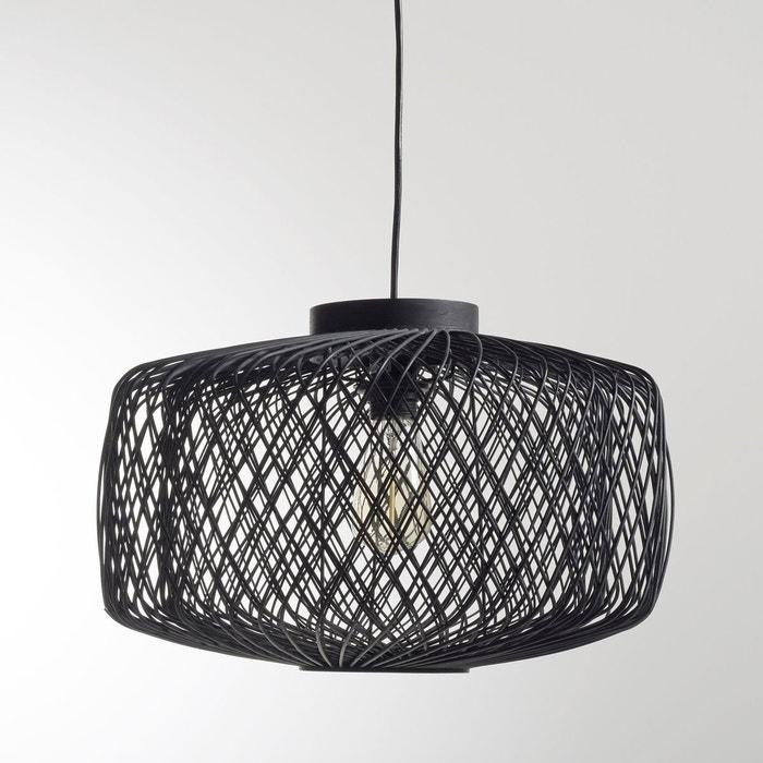 Suspension en rotin tissé noir, non électrifiée, Y La Redoute Interieurs