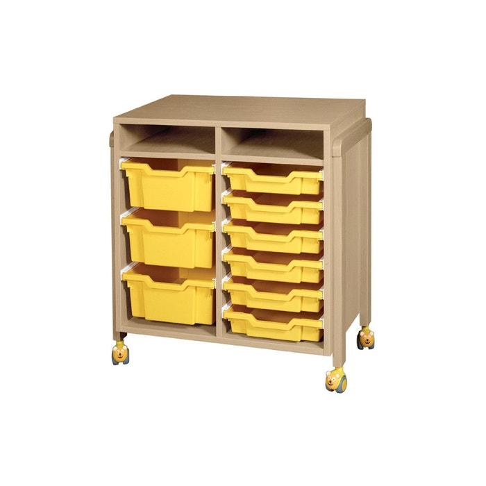 Meuble 9 bacs ric hochet marron t mobilier la redoute for Solde la redoute meuble
