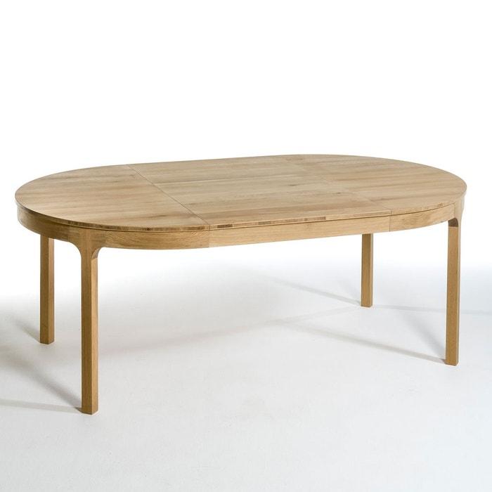 table ronde ø120 cm à allonge, amalrik chêne naturel am.pm   la