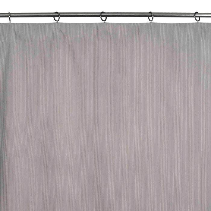Rideau à ruban fronceur coton kent gris clair Madura | La Redoute