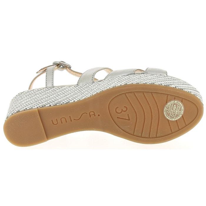 Sandales et nu-pieds unisa kafia plomb Unisa