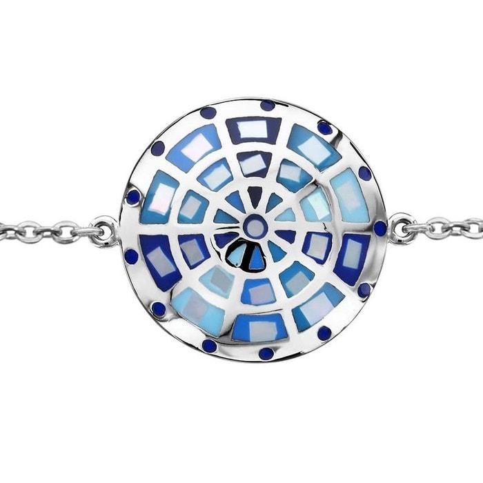 Bracelet longueur réglable: 16 à 19 cm rond bleu nacre acier inoxydable couleur unique So Chic Bijoux | La Redoute 100% Original Professionnel À Vendre Images Footlocker Sortie BgroYqg3j