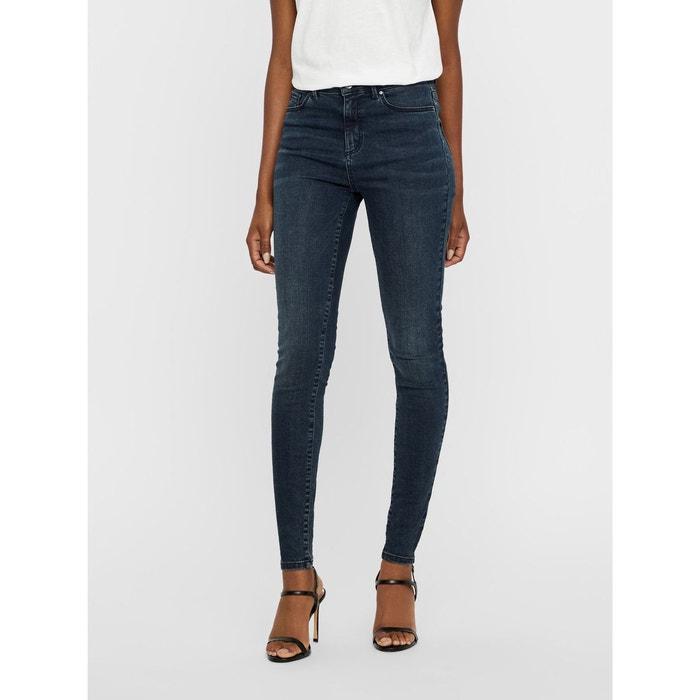 2e886767f502c Jean skinny taille haute dark blue denim Vero Moda   La Redoute
