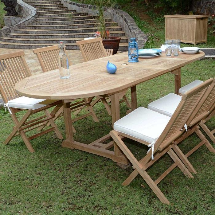Salon TanaoTable De Jardin Chaises Java Extensible Avec Ecograde 6 En Teck rBWQoxedC