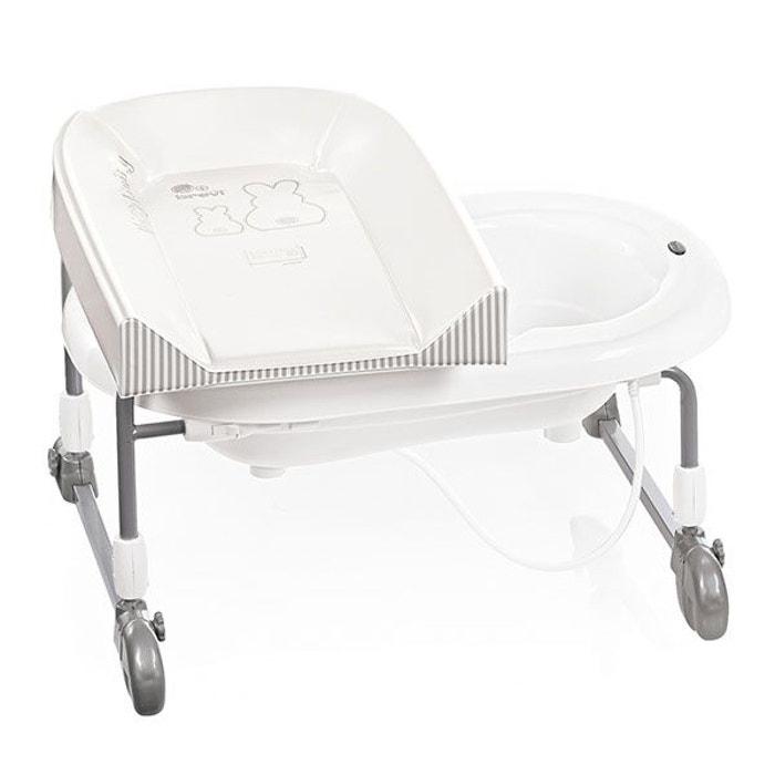 combin baignoire table langer bagnotime duo lapin blanc blanc brevi la redoute. Black Bedroom Furniture Sets. Home Design Ideas