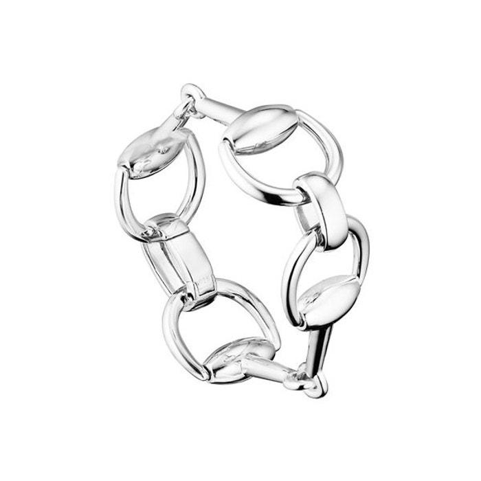 Bracelet chaîne maille cheval auteuil en argent 925, 59.2g argent Clio Blue | La Redoute