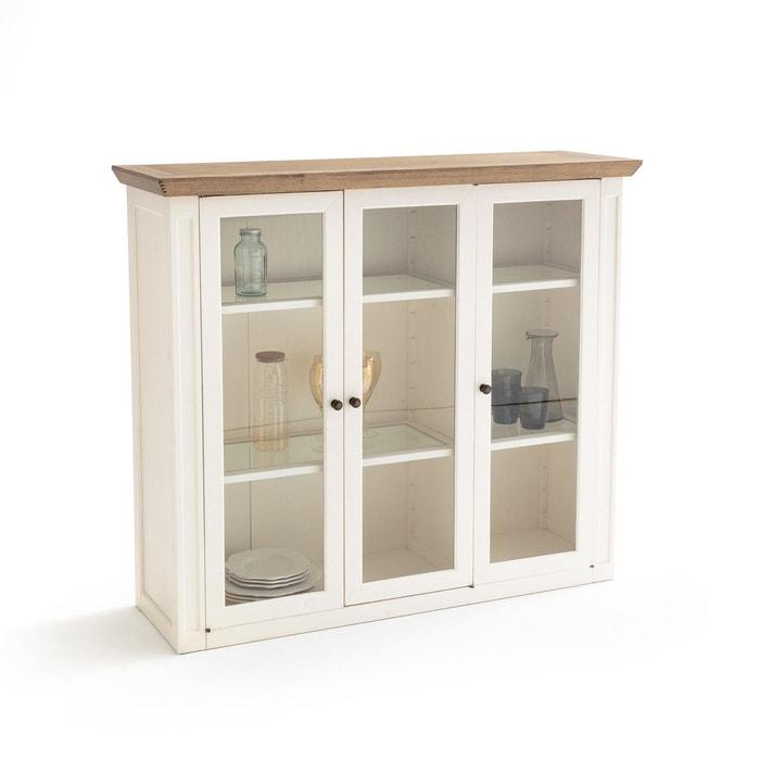 vaisselier 3 portes partie haute adelia blanc la. Black Bedroom Furniture Sets. Home Design Ideas