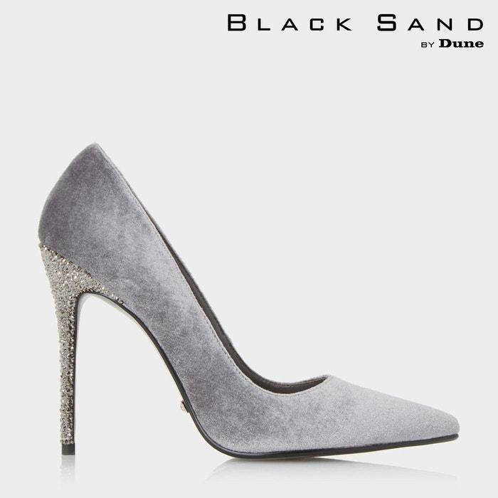 Escarpins black sand à talons hauts ornés de pierres fantaisie - bryleigh Dune London