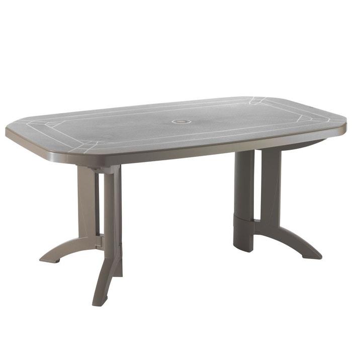 Table de jardin vega 165x100 taupe Grosfillex | La Redoute