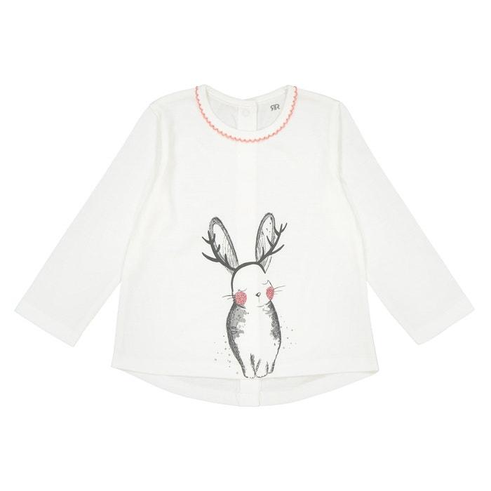 "Футболка с длинными рукавами и рисунком ""кролик"", 0 мес. - 3 года  La Redoute Collections image 0"