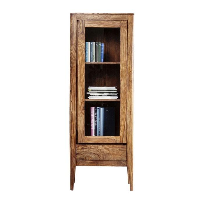 vitrine brooklyn nature 1 porte kare design marron kare. Black Bedroom Furniture Sets. Home Design Ideas