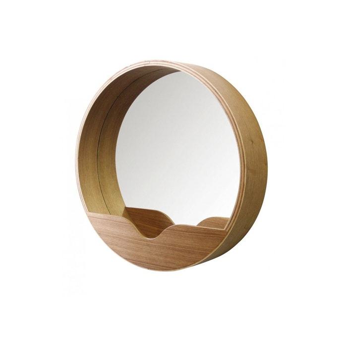 Miroir emily marron produit interieur brut la redoute for Miroir 0 la coupe