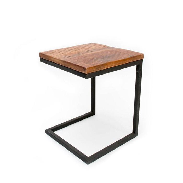 Table d 39 appoint pour ordinateur lapt noir drawer la redoute for Table pour ordinateur fixe