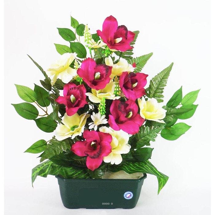 composition jardiniere coquelicot orchidee artificielle. Black Bedroom Furniture Sets. Home Design Ideas